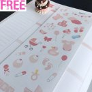 PP247 -- Pink Baby Girl Icons Life Planner Stickers for Erin Condren