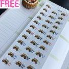 PP477 --  School Field Trip Icons Life Planner Stickers for Erin Condren