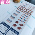 PP438 -- Football Game Day Planner Stickers for Erin Condren