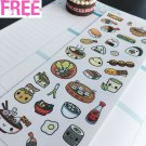 PP325 -- Kawaii Japaneses Food Planner Stickers for Erin Condren