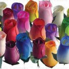 Customize Your Own Colors (up to 21 colors) of Wooden Roses 12/24/36/48 piece