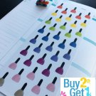 PP030- Rainbow Nail Polish Planner Stickers for Erin Condren