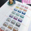 PP156 -- Kawaii Happy Mail Planner Stickers for Erin Condren