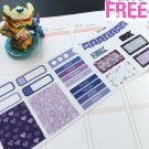 PP166 -- Purple Winter Christmas Kit Planner Stickers for Erin Condren