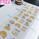 PP324 -- Kawaii Lazy Day Icons Life Planner Stickers for Erin Condren