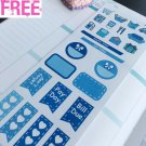 PP400 -- Icy Blue Mini Kit Planner Stickers for Erin Condren