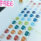 PP065-- A Cup Of Coffee Life Planner Stickers for Erin Condren