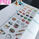 PP295 -- Kawaii Japaneses Food Life Planner Stickers for Erin Condren