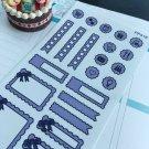 PP418 --  Purple Doodle Kit Life Planner Sticker Kit for Erin Condren