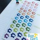 PP044 -- Small Piggy Bank Planner Stickers for Erin Condren (