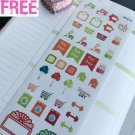 PP214 -- Red and Green Shopping Life Planner Stickers for Erin Condren