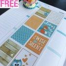 PP409A -- Fox and Owl January Life Planner Sticker Kit for Erin Condren