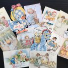 BB79 -- Lot of 12 Vintage Easter Greeting Card DIE CUTS for CARD MAKING