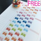 PP095 -- Car with $ Icons Life Planner Stickers for Erin Condren