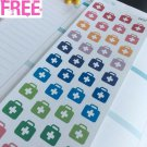 PP277 -- Little First Aid Life Planner Stickers for Erin Condren