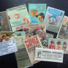 BB26: Lot of 14 Vintage Quack Doctor DIE CUTS for CARD MAKING FREE SHIPPING