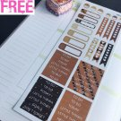 PP149D -- I Love Coffee Header Life Planner Stickers for Erin Condren