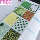 PP289-- St Patrick's Day Decoration Box Planner Stickers for Erin Condren