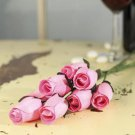 #9 PINK -- 12/24/36/48 pieces Wooden Roses Buds FREE SHIPPING US SELLER