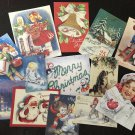 BB60 Lot of 13 VICTORIAN & VINTAGE CHRISTMAS DIE CUTS 4 Crafts Making FREE SHIP