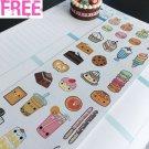 PP327 -- Kawaii Cupcake Dessert Planner Stickers for Erin Condren