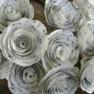 Handmade Wavy Music Sheet Paper Flower Roses 12/24 pieces 1st anniversary gift