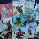 BB02B -- Lot of 14 Vintage COWBOY CATEGORY DIE CUTS for crafts making