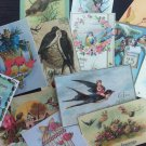 BB013- Lot of 13 Vintage BIRDS DIE CUTS for Card Making Crafts - FREE SHIPPING