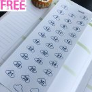 PP478 -- Blue Cloud Date Cover Countdown Planner Stickers for Erin Condren