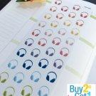 PP199 -- Headphones Life Planner Stickers for Erin Condren