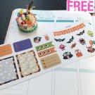 PP118 -- Cute Halloween Weekend Life Planner Stickers for Erin Condren