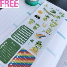PP430A -- St Patrick's Day Functional Boxes Icons Planner Stickers Erin Condren