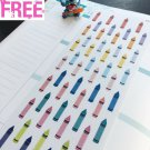 PP127 -- Crayon Life Planner Stickers for Erin Condren