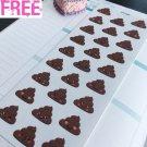 PP368 -- Kawaii Poop Emoji Sh*t Life Planner Stickers for Erin Condren