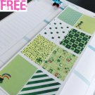 PP288-- St Patrick's Day Decoration Box Planner Stickers for Erin Condren