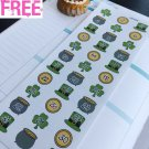 PP434 -- St Patrick's Day Countdown Planner Stickers for Erin Condren
