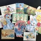 BB73 -- Lot of 12 Vintage Easter Greeting Card DIE CUTS for CARD MAKING