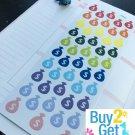 PP033 -- Small Money Bag Planner Stickers for Erin Condren