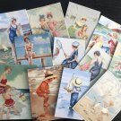 BB87 -- Lot of 13 Vintage Seashore Greeting Card  DIE CUTS for CARD MAKING