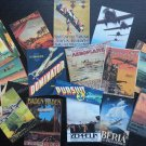 BB32 -- Lot of 17 Vintage AIRPLANES POSTER DIE CUTS for CARD MAKING