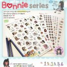Cute cartoon Bonnie series girl pvc stickers notebook diary decoration 6 sheets