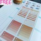 PP439C -- Peach Fashion Girl Monthly Life Planner Sticker Erin Condren