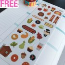 PP341 -- Autumn Time Fall Icons Planner Stickers for Erin Condren