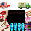 B: Nail Art Tip Line Sticker Guides Stencil French Manicure DIY - US Seller
