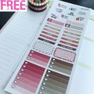 PP470C -- Pink Dog Lovers Monthly Kit Life Planner Sticker Erin Condren