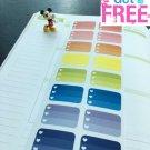PP061 -- Ombre Checklist Planner Stickers for Erin Condren