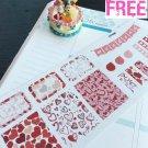 PP406 -- Pink Valentine's Day Weekend Planner Stickers for Erin Condren