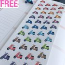 PP262 -- Small Vespa Motorcycles Life Planner Stickers for Erin Condren