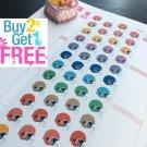 PP090 -- Small Football Helmet Planner Stickers for Erin Condren