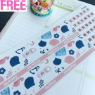 PP459B -- Pink Blue Nautical Monthly Date Cover Planner Stickers Erin Condren